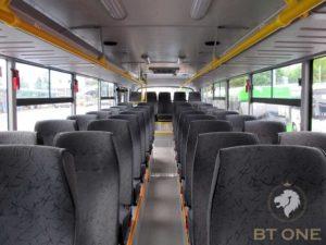 салон пригородного автобуса